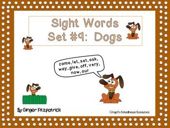 Sight Word Set #9 Dogs