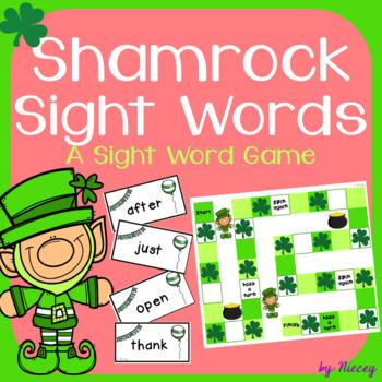 Sight Word Shamrocks Game