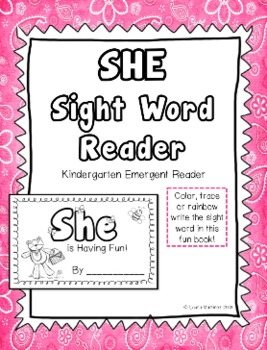"Sight Word ""She"" Emergent Reader"