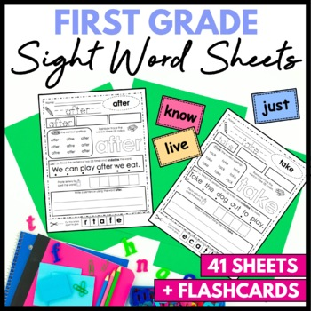 Sight Word Practice Sheets First Grade