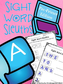 #betterthanchocolate Sight Word Sleuths: Pre-Primer Words