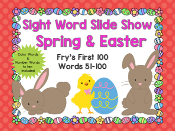 Sight Word Slide Show, Fry's First 100, Words 51-100, Spri