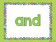 Sight Word Slide Show, Literacy First Kindergarten Words 1
