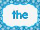 Sight Word Slide Show, Literacy First List A, Words 1-50, Winter