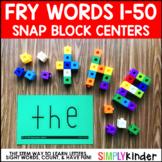 Sight Word Snap Cube Center - Fry 1-50