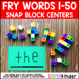 Snap Cube Center, Sight Words, Fry
