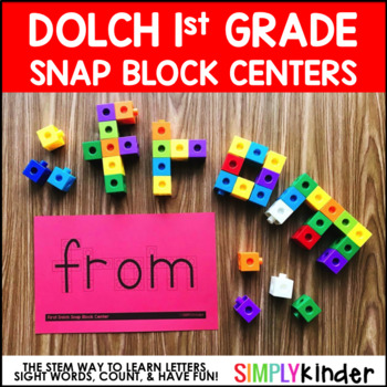 Sight Word Snap Cubes - 1st Grade Dolch Words