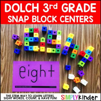 Sight Word Snap Cubes