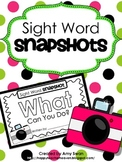 Sight Word Snapshot FREEBIE - WHAT Can You Do? - Sentence
