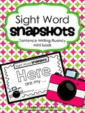 "Sight Word Snapshot - ""HERE are my..."" Sentence Writing Fl"