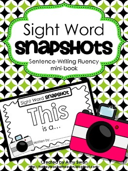 """Sight Word Snapshot - """"THIS is a..."""" Sentence Writing Flue"""