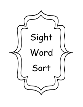 Sight Word Sort - Editable!
