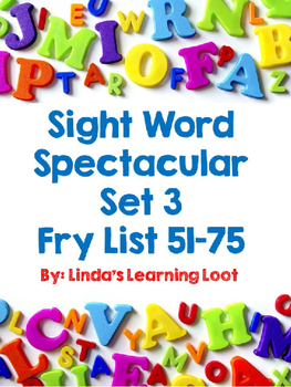 Sight Word Spectacular: Fry Words Set 3 Printables