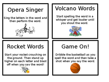 Sight Word Spelling Cards