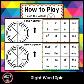 Sight Word Spin