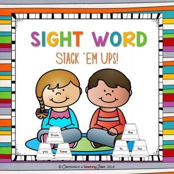 Sight Word Stack 'Em Ups!