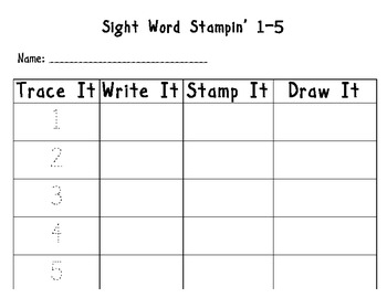 Sight Word Stampin' Combo Pack! (includes over 250 words +