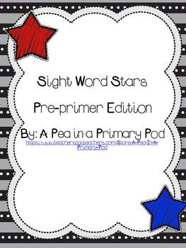 Sight Word Stars Pre-primer Edition