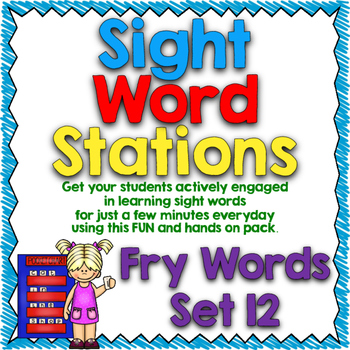 Sight Word Stations {Fry~12}