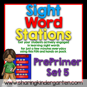 Sight Word Stations {PrePrimer~5}