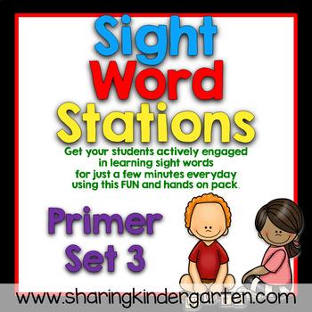 Sight Word Stations {Primer~3}