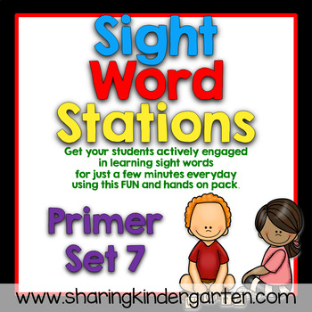 Sight Word Stations {Primer~7}