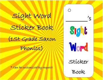 Sight Word Sticker Book (First Grade Saxon Phonics Words)(