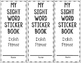 Sight Word Sticker Book Dolch Primer