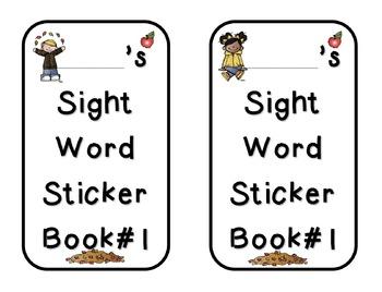 Sight Word Sticker Books with Seasonal Graphics