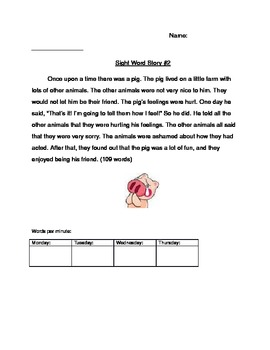 Sight Word Stories 2-4