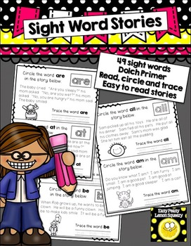 Sight Word Stories- read, circleand trace