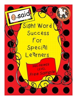 Sight Word Success for Special Learners Free Sample (Dolch