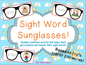 Sight Word Sunglasses!