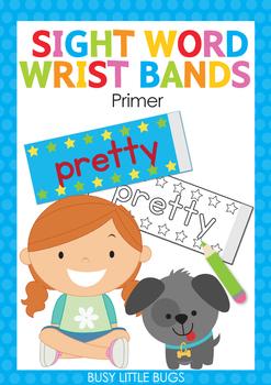 Sight Word Super Power Wrist Bands - Primer