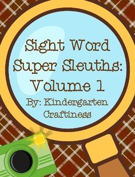 Sight Word Super Sleuths: Volume 1