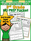 Sight Word Super Stars NO PREP (3rd Grade Edition)