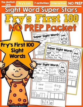 Sight Word Super Stars NO PREP (Fry's First 100 Words)