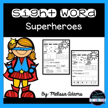 Sight Word Superhoeroes (editable)