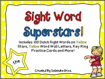 Sight Word Superstars! (Yellow)
