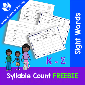 Sight Word Syllable Count: Grades K-2 FREEBIE