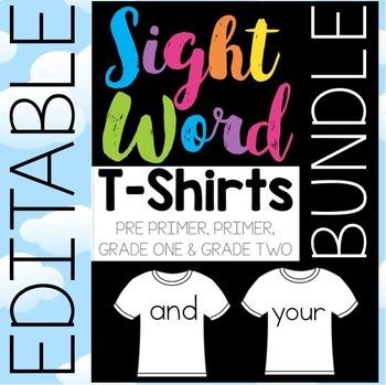 Sight Word T-Shirts BUNDLE