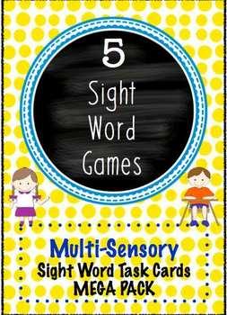 Sight Word Task Cards Multi Sensory Dolch Games Mega Pack