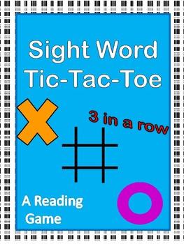 Sight Word Tic-Tac-Toe