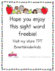Sight Word Trace & Spell FREEBIE!