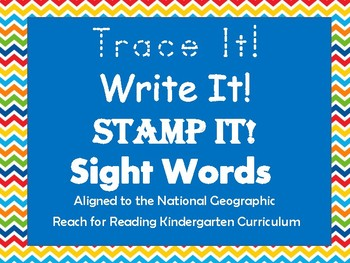 Sight Word Trace it Write it Stamp it - Aligned to Kinder