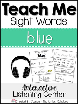Teach Me Sight Words: BLUE [Interactive Center with Printa