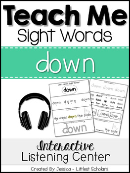 Teach Me Sight Words: DOWN [Interactive Center with Printa