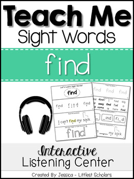 Teach Me Sight Words: FIND [Interactive Center with Printa