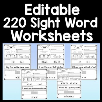 Sight Word WE {2 Sight Word Books and 4 Worksheets!}