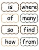 Sight Word Wall Cards (Animal Print)